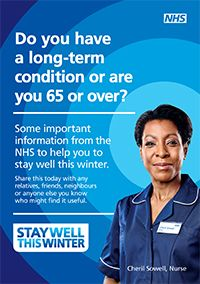 Find advice on how to stay well in winter, including getting the flu jab and keeping your home warm.