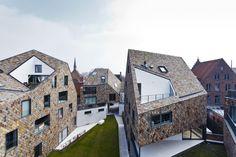 Hedendaags woonproject ingepast in de historische binnenstad: mooi materiaalgebruik en goede vormgegeven!