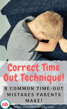 Learn the correct time out technique and 8 common timeout mistakes parents make. Time Out Ideas for kids and for 2 year olds. It could be a time out chair or a time out corner, the main point is using the correct time out technique, so your child does not feel like it's a punishment, but rather gets the most out of time out benefits.