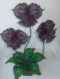 "Beaded flowers ""Bat"" (pattern in Jumble 1)"