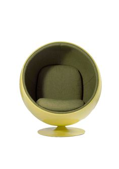 Ball Chair by Eero Aarnio.  Love the color!