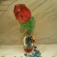 Make a Plastic Bottle Tulip Plastic Bottle Flowers, Plastic Bottles, Tulips, Glass Vase, How To Make, Channel, Diy, Crafts, Youtube