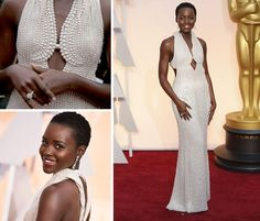 This year, Lupita Nyong'o didn't have the pressure of an Oscar nomination, but she didn't slack in the dress department. Her gown, a custom design by Francisco Costa of Calvin Klein Collection, was liberally studded with natural pearls, some 6,000 according to published reports. Click to see more noteworthy looks from the 87th Academy Awards. (Photo: Noel West for The New York Times)