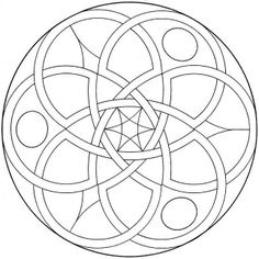 I love the feel and simplicity of this mandala. Healing Mandala from Coloring Mandalas by Susanne F. Fincher http://altmedicine.about.com/library/howto/nmandala.htm