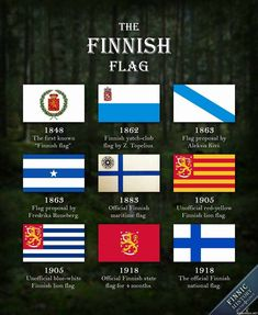 The Finnish flag has come a long way since the first Finnish proto-flag was introduced in This picture introduces nine selected flag designs from . The Finnish Flag Flags Of The World, Countries Of The World, Helsinki, Red And Yellow Flag, History Of Finland, Finnish Language, Map Pictures, Alternate History, History Memes