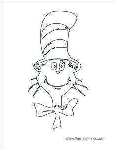 Cat In The Hat Rainbow Song Colouring Sheets On Pinterest