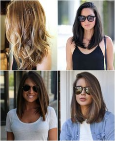 Cortes de cabelo curto long bob hair hair styles, hair make Hairstyles Long Bob, Wedding Hairstyles, Bob Haircuts, Lob Hairstyle, Medium Hair Styles, Short Hair Styles, Hair Color And Cut, How To Make Hair, Hair Day