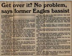 Randy Meisner, Hotel California, Jacuzzi, Get Over It, Nebraska, Love Of My Life, Eagles, Musicals, Writing