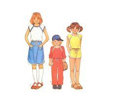 70s McCalls 6529 Childs TShirt Skirt Pants or Shorts UNCUT - ON SALE