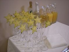 Great way to show off star fruit at your next party!