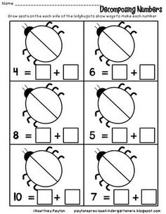 Decomposing Numbers K.OA.3 - Freebie from MrsPayton on TeachersNotebook.com (12 pages)