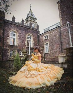 Beauty and the Beast Belle Gown - Cosplay Dress Beauty And The Beast Wedding Dresses, Belle Wedding Dresses, Beauty And The Beast Costume, Beauty And The Beast Theme, Belle Dress, Belle Cosplay, Disney Cosplay, Cosplay Dress, Quince Dresses