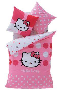 Enxoval para cama de quarto feminino infantil - hello kitty
