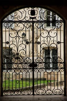 Beautiful gate in Beaune, France