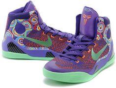 buy popular 2c3cd 0ae31 Mens   Womens Nike Zoom Kobe IX Kobe 9 Original Basketball Shoes Purple  Green Mixing Colors, cheap Nike Kobe If you want to look Mens   Womens Nike  Zoom ...