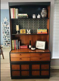 Teak Furniture, Upcycled Furniture, Painted Furniture, Furniture Design, Flip Furniture, Sideboard Decor, Mid Century Sideboard, Orla Kiely, Dresser