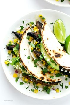 Roasted Portobello Tacos   Gimme Some Oven   Bloglovin'