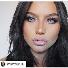 Yikes, there's def something wrong with this girl's lips! But the rest of her makeup is tight lol My Beauty, Beauty Makeup, Eye Makeup, Hair Makeup, Colored Eye Contacts, Cool Eyes, Amazing Eyes, Girls Lips, Natural Eyes
