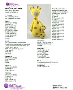 Geri The Giraffe Amigurumi - Pdf Crochet - Diy Crafts - Marecipe Crochet Giraffe Pattern, Crochet Bear Patterns, Amigurumi Patterns, Love Crochet, Crochet Baby, Diy Crafts Crochet, Crochet Dolls, Control Panel, Costura Diy
