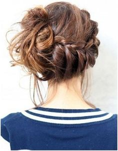 French Braid Bun Ideas: Side Updo Hairstyles