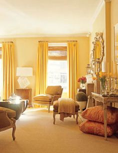 Genial Yellow Curtains For Living Room