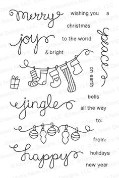 Holiday Wishes Stamp set by Newton's Nook Designs