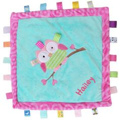Personalized taggie blanket