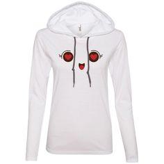 Heart Eyes Face Emoji 1 887L Anvil Ladies' LS T-Shirt Hoodie