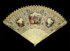 c1770-1780 European ivory brise fan,,,,,,,,,,,,,,http://www.pinterest.com/pluengolinares/ol%C3%A9-ol%C3%A9-y-ol%C3%A9/