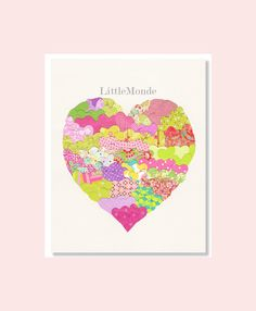 Pink Green Nursery, Baby Girl Wall Decor by LittleMonde, $16.00
