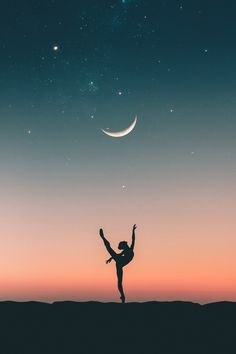 Dancing with the moon by Doni Haris / Ballerina Wallpaper, Dance Wallpaper, Look Wallpaper, Cute Wallpaper Backgrounds, Cute Wallpapers, Gymnastics Wallpaper, Ballet Poses, Dance Poses, Dance Picture Poses
