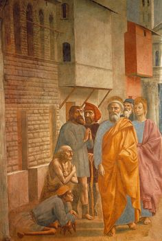 Masaccio: St. Peter Healing the Sick with His Shadow, c.1425.