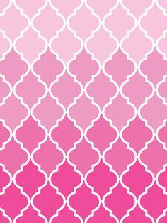Make it...Create--Printables & Backgrounds/Wallpapers: Quatrefoil...Ombre Pink & Aqua