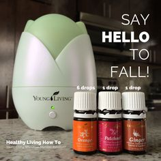 "Say Hello to Fall. This essential oil diffuser blend uses Orange, Patchouli, and Ginger. Please ""LIKE"" me on Facebook: https://www.facebook.com/EOAdventureswithBecky ~~ Need to purchase oils? You can find out more information at https://beta.youngliving.com/vo/#/signup/start?site=US&sponsorid=2385830&enrollerid=2385830  ~~"