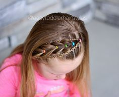 Headband pull through braid with braided accents. If you've watched my stories. Headband pull through braid with. Girls Hairdos, Cute Little Girl Hairstyles, Baby Girl Hairstyles, Girls Braids, Headband Hairstyles, Braided Hairstyles, Cool Hairstyles, Toddler Hairstyles, Princess Hairstyles