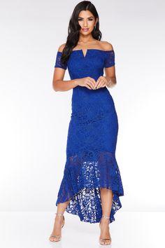 d73819c6d38 Royal Blue Glitter Lace Midi Dress. Blue Dresses