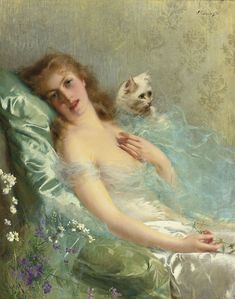 The White Cat  Vittorio Matteo Corcos