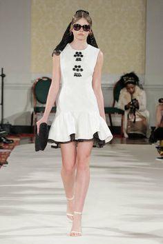 Karime Dress - A/W14 Collection #LFW #chic #womenswear #pattern #black #white