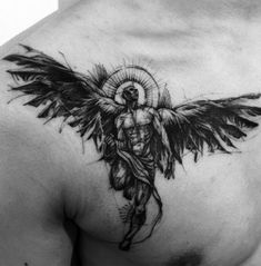 61 Best Stylish, Beautiful and Unique Tattoos for Men unique tattoos for men; unique tattoos for couples; unique tattoos for my son; unique tattoos for lost loved ones; unique tattoos for parents; unique tattoos for best friends Future Tattoos, New Tattoos, Body Art Tattoos, Small Tattoos, Sleeve Tattoos, Tattoos For Guys, Angel Tattoos For Men, Tatto For Men, Forearm Tattoos