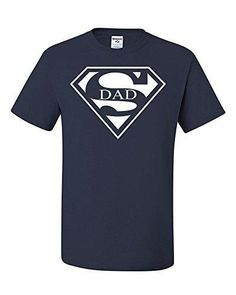 Super Dad Funny T-Shirt Father's Day Birthday Gift For Dad Husband Super Hero L Navy Blue