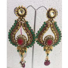 #Earrings @ Rs 645.00 - Order Now  Buy online at www.imitationjewelleryonline.com