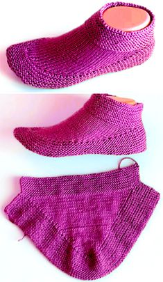 Knitting Tutorial Tutorial Knit Booties in 15 minutes - Tutorial Easy Knitting, Knitting Stitches, Knitting Socks, Knitting Patterns Free, Knit Patterns, Knitted Booties, Knitted Slippers, Crochet Shoes, Knit Or Crochet