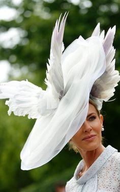 Kate Middleton Debuts At Royal Ascot Amid Glamour, Wacky Hats And Fast Horses Millinery Hats, Fascinator Hats, Fascinators, Headpieces, Michel Fugain, Royal Ascot Races, Horse Race Hats, Crazy Hats, Ayrton Senna