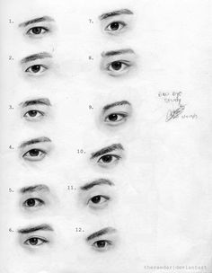 How to draw EXO Eyes  How to draw Asian eyes