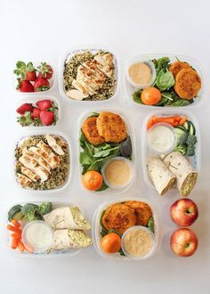 Make a lunch plan for the week and prep everything ahead of time.