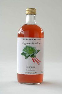 tillmans of sweden | organic rhubarb cordial. Pretty bottle because it has the reminiscent of a medicine bottle but would be pricey!