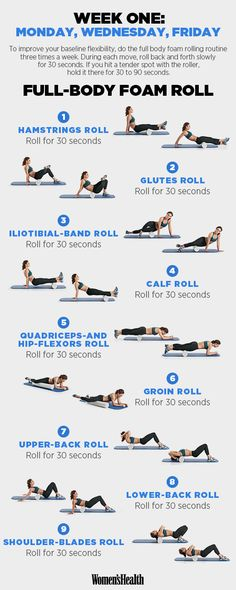 one week full body foam roal #fullbody #workout #exercises #abs #women