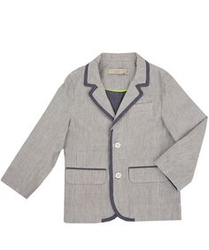 Stella McCartney Kids Age 2 to 14 Light Blue Raymond Stripe Blazer | Kidswear | Liberty.co.uk