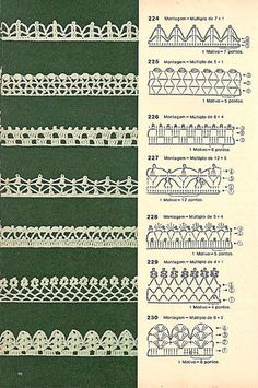 Bicos de crochê by LeiaCook, via Flickr These are pretty, maybe I could find a written pattern for them?
