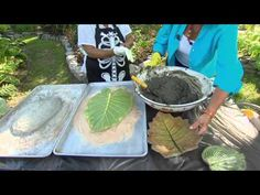 ▶ Leaf Casting - YouTube - My Grandma use to do this with Rhubarb leaves.  Have to try it!